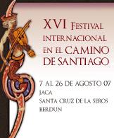 XVI FESTIVAL INTERNACIONAL EN EL CAMINO DE SANTIAGO